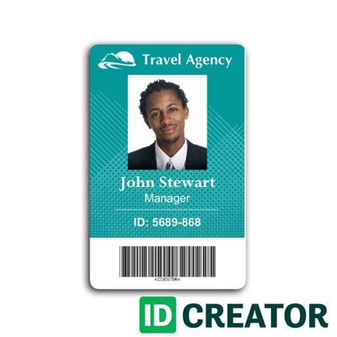 how to make employee id cards travel agency employee id card from idcreator