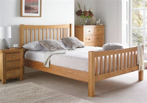 king size oak bed frame dorset oak bed frame light wood wooden beds beds