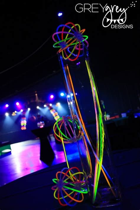 glow in the paint for vases greygrey designs glowstick centerpieces i glow in the