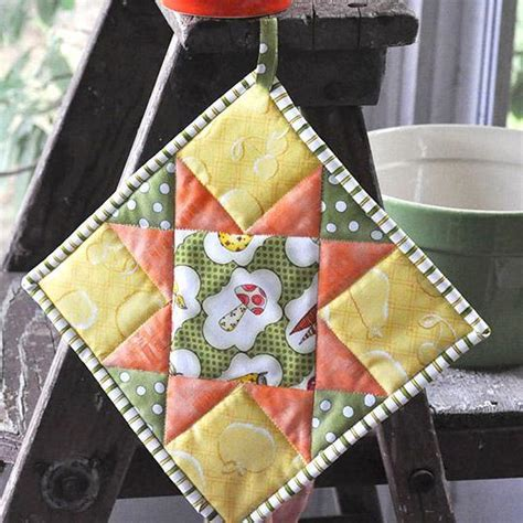 potholder pattern quilted potholder tutorial patterns to try