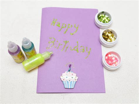 make birthday card how to make a simple handmade birthday card 15 steps