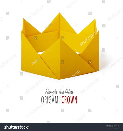 paper crown origami origami paper crown stock photo 501719845