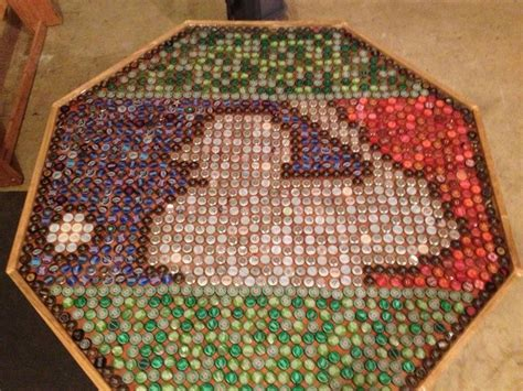 bottle cap table top how to recycle bottle cap design on table floor and walls