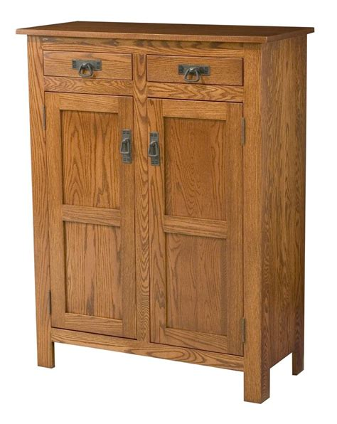 mission style kitchen cabinet doors amish mission style two door cabinet with wood panels