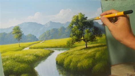 painting landscapes acrylic landscape painting lesson the river by jm