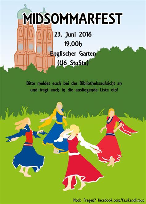 Midsommar München Englischer Garten midsommarfest 2016 nordistik lmu m 252 nchen
