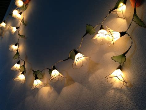 string flower lights 20 bulbs white himalayas flower with leaf string lights for