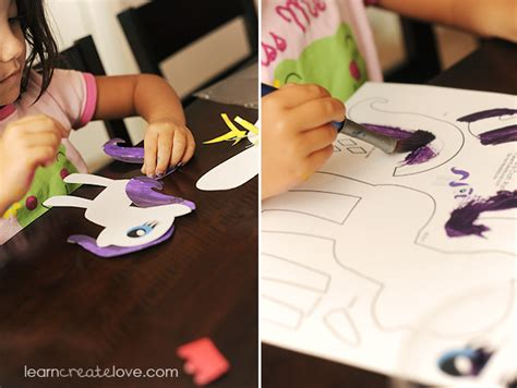 my pony crafts for printable my pony craft rarity