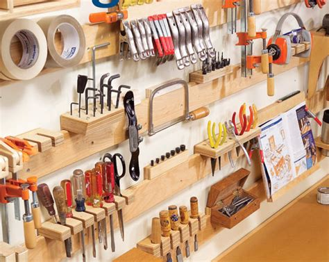 american woodworking hyperorganize your shop small garage cleat and