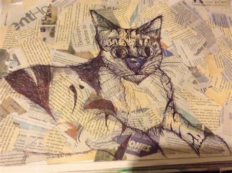 cat painting guide cat in biro