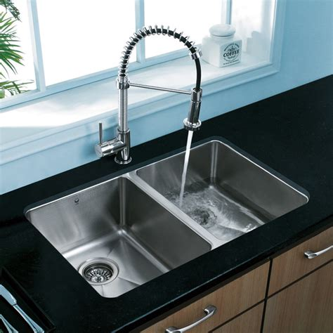two sinks in the kitchen vigo premium collection kitchen sink faucet