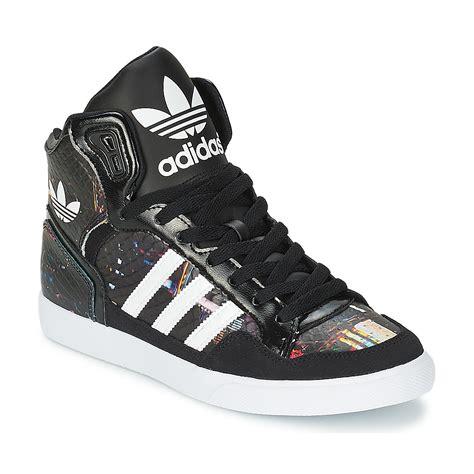 basket montante adidas originals extaball w noir blanc prix promo baskets femme spartoo 89 99