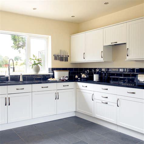 white kitchen ideas uk black and white kitchen kitchen design decorating ideas ideal home