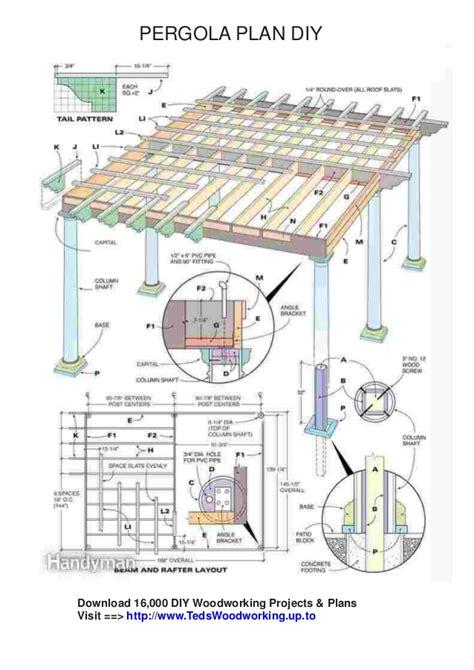 pergola blueprints free free pergola plans pdf