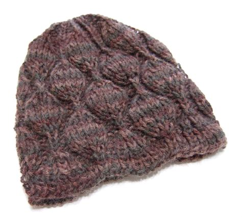 knitting pattern hat needles embossed leaves hat for needles clothing