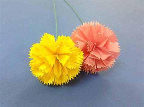 origami carnation how to make carnation paper flower easy origami flowers