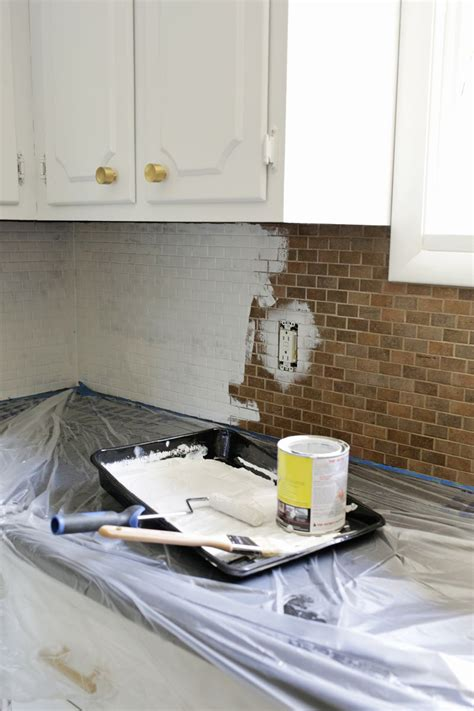 paint kitchen backsplash how to paint a tile backsplash a beautiful mess