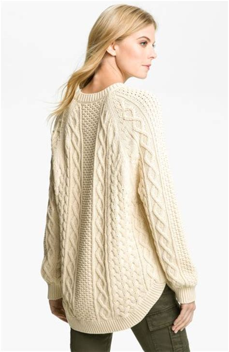 fisherman knit sweater michael michael kors fisherman cable knit sweater in beige