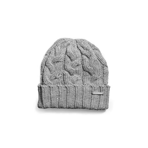 michael kors cable knit hat michael kors cable knit hat in gray lyst