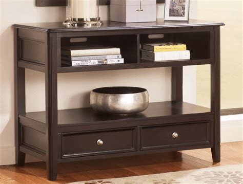 sofa table overstock carlyle almost black sofa table overstock