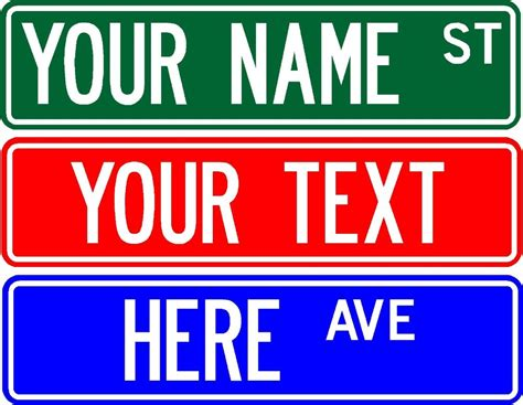create your own rubber st free personalized custom sign 6 quot x 24 quot make your own