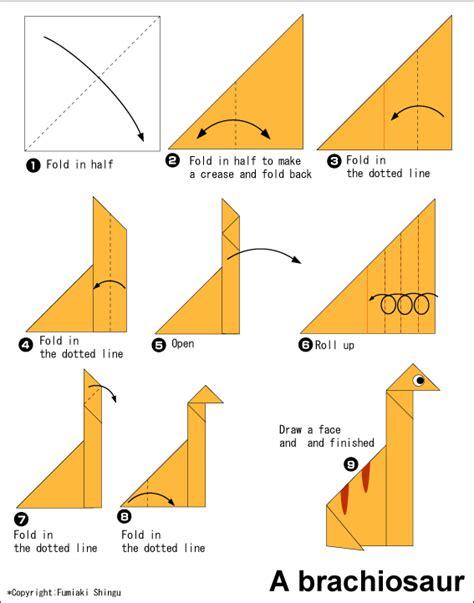 easy origami club origami brachiosaurus