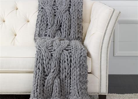 cable knit throw cross cable knit throw gray throws