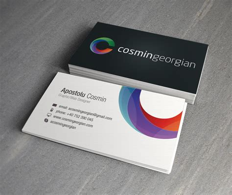 business card cosmin georgian business card digital graphic design