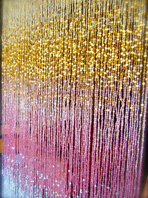 gold beaded curtains antique ombre pink silver gold beaded curtain ready