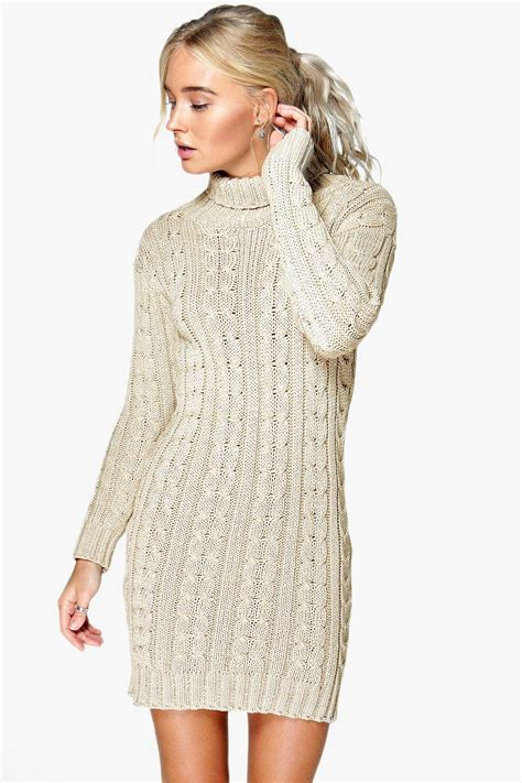 cable knit dress boohoo womens lottie cable knit jumper dress ebay