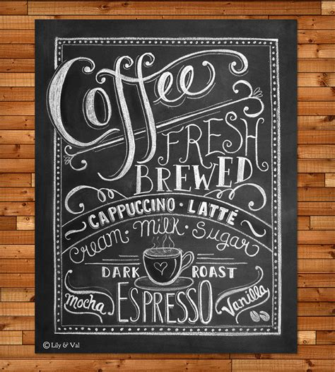 painting chalkboard signs coffee chalkboard print prints posters