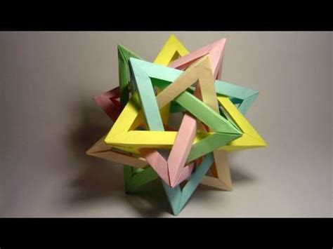 tetrahedra origami origami five intersecting tetrahedra complete assembly