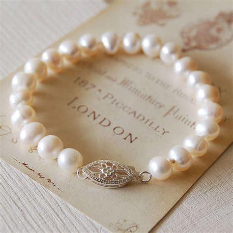 pearl uk vintage style pearl bracelet by highland