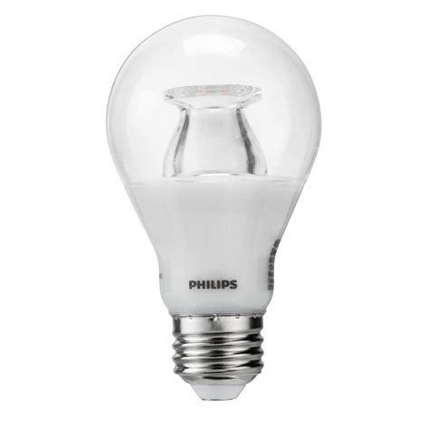 warm glow led lights philips 40w equivalent soft white clear a19 led warm glow