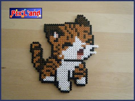 perler bead cat chaton unitaire en perle hama midi cats and