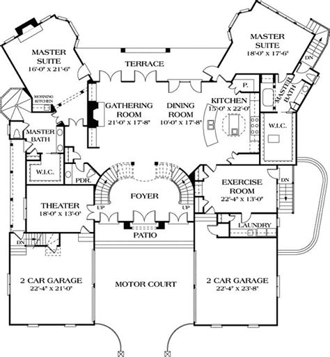 ranch house plans with 2 master suites 44 best dual master suites house plans images on home plans house floor plans and