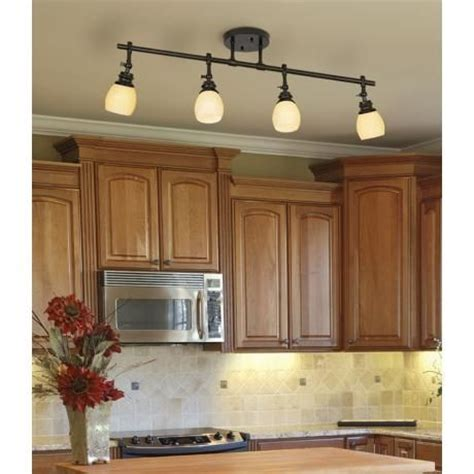 ceiling track lights for kitchen elm park 4 bronze track wall or ceiling light fixture