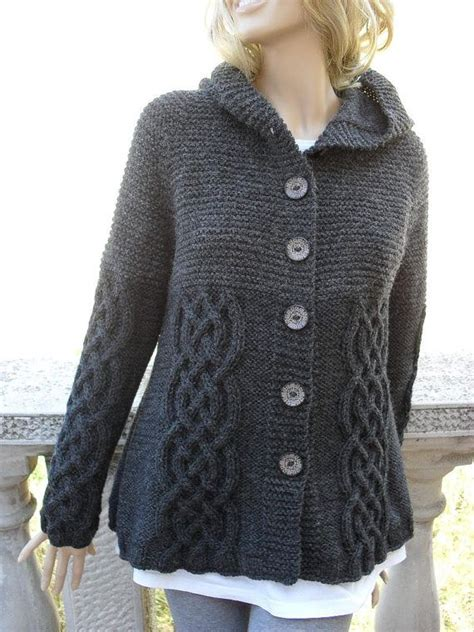 grey knit cardigan womens knit sweater womens cable knit jacket cardigan grey
