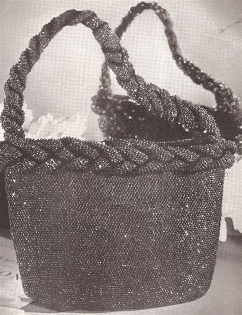 crochet beaded bag pattern hiawatha beaded bags accessories vintage crochet pattern