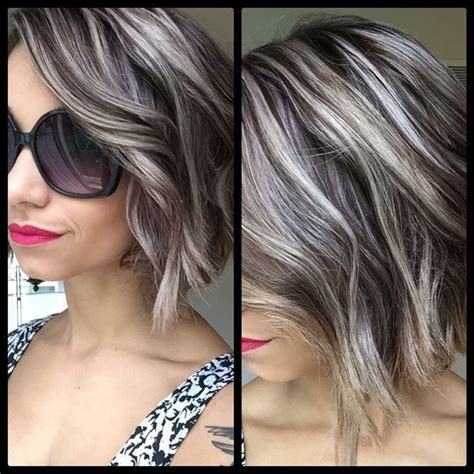 pictures of grey hairstyles with pink highlights top 25 best silver hair highlights ideas on pinterest