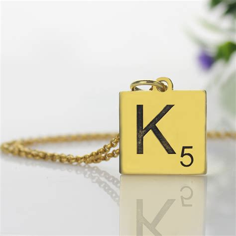 scrabble jewelry personalized scrabble necklace gold scrabble jewelry