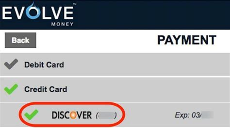 discover credit card make payment evolve money now lets you pay bills with a credit card