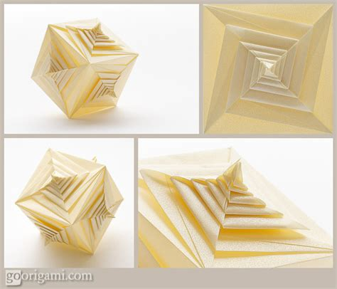 origami spiral spiral faced cube by tomoko fuse modular origami go