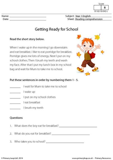 one free read comprehension worksheets early stage one virallyapp