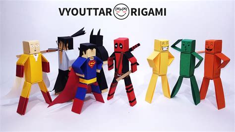 origami characters how to make paper characters minecraft characters