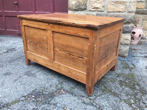 large wooden large wooden chest attainable vintage