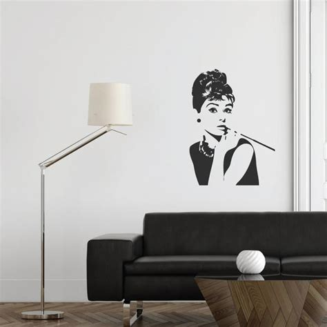 hepburn wall sticker hepburn wall decal wallboss wall stickers wall