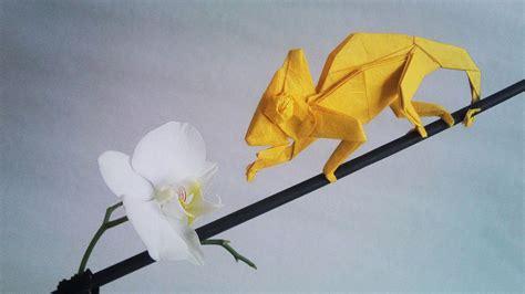 origami chameleon iguana fold these 28 awesome origami lizards