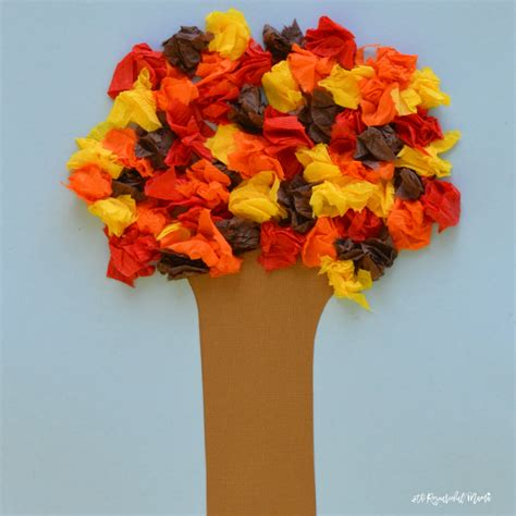 construction paper crafts for fall crepe paper fall tree family crafts