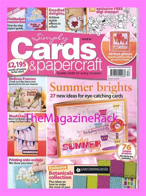 paper craft magazines simply cards papercraft magazine issue 87 2 free gifts